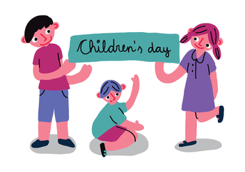 Children's Day Banner Vector - vector gratuit #407239