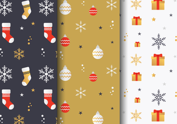 Free Christmas Pattern Vector - vector gratuit #407279