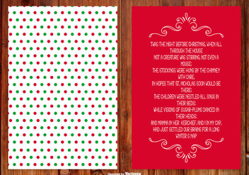 Christmas Poem Card - vector #407309 gratis