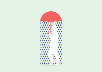 Rainy Illustration Vector - vector gratuit #407399