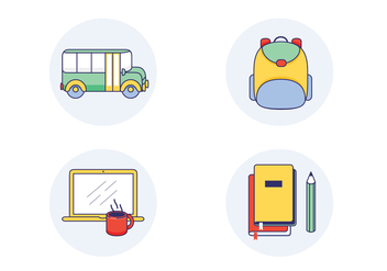 School Vector Icons - бесплатный vector #407409