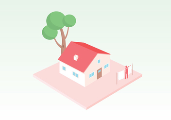 House Vector Illustration - Kostenloses vector #407419
