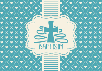 Blue Baptisim Card Template - vector gratuit #407449