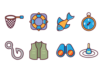 Free Fishing Icon Pack - vector gratuit #407489