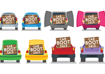 Free Car Boot Icons Vector - Kostenloses vector #407529