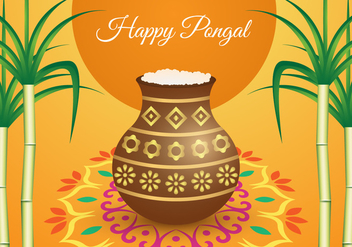 Free Pongal Background Vector - Kostenloses vector #407569