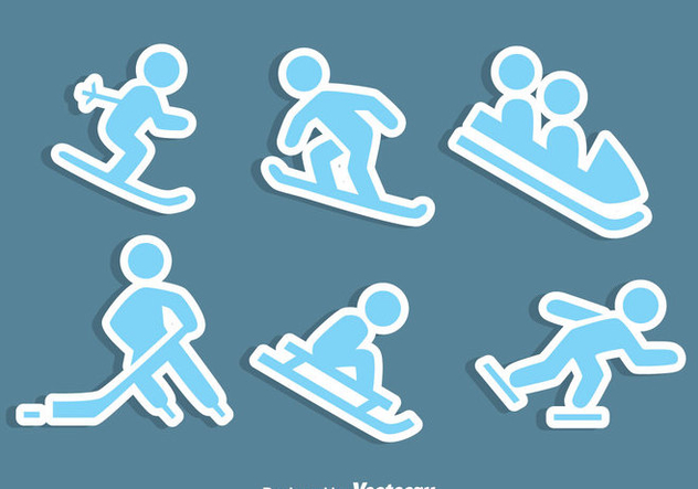 Winter Sports Icons Vector - vector #407599 gratis