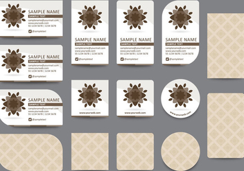 Brown Name Card Templates - vector gratuit #407609