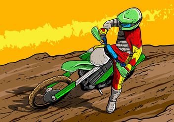 Dirt Bikes Motorcycle Rider - бесплатный vector #407699