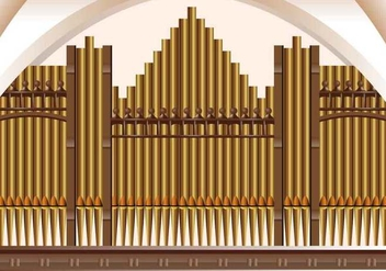 Pipe Organ Church Musical Background - vector gratuit #407759