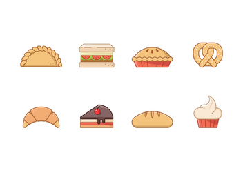 Free Bakery Icons - vector gratuit #407799