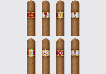 Cigar Label Vectors - бесплатный vector #407839