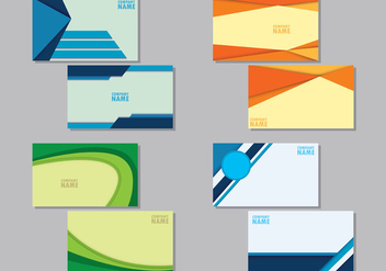 Set Of Namecard Templates - Free vector #407859