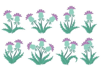 Thistle Icons - vector #407929 gratis