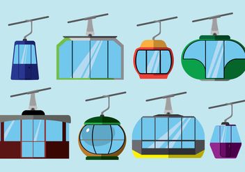 Free Cable Car Icons - vector #408049 gratis