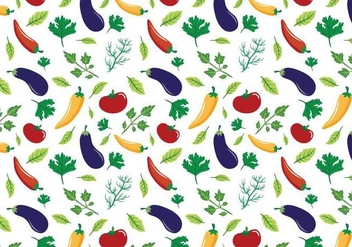 Free Vegetables Patterns Vectors - vector gratuit #408129