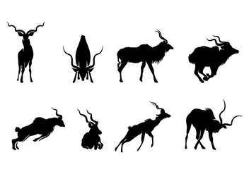 KUDU SILHOUETTE VECTOR - Free vector #408149