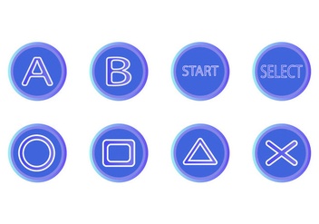 Free Arcade Button Icon Vector - Kostenloses vector #408189