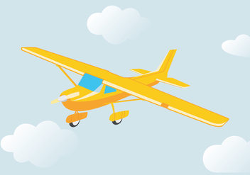 Flying Cessna Vector - vector gratuit #408209