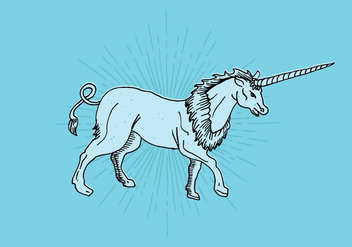 Unicorn Line Drawing - Free vector #408299