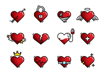 Heart Icon Free Vector - vector gratuit #408339