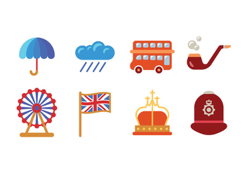 British / UK icons - vector gratuit #408409