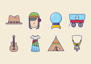 Free Gipsy Icons - vector gratuit #408459