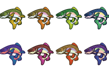 Rainbow Trout Fish Vector - бесплатный vector #408579