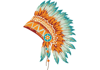 Indian Headdress Vector - бесплатный vector #408639