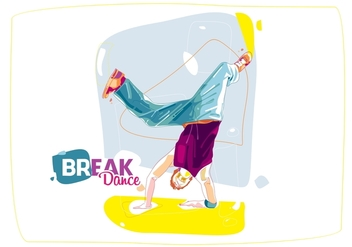 The Colorful Break Dance - Free vector #408659