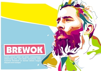 Lumbersexual in Popart Portrait - Free vector #408669