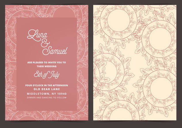 Vector Wedding Invitation - vector gratuit #408699