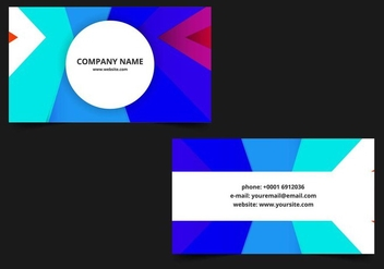 Free vector Colorful Business Card - Kostenloses vector #408759