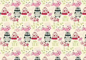 Christmas Pattern Free Vector With Christmas Elements - Free vector #408789