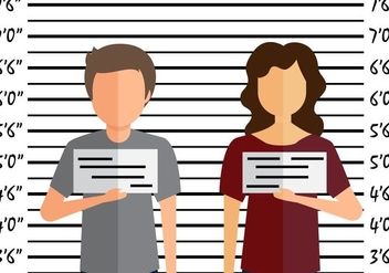Mugshot flat illustration - vector gratuit #408859