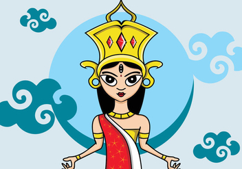 Illustration Of Durga - vector #408869 gratis
