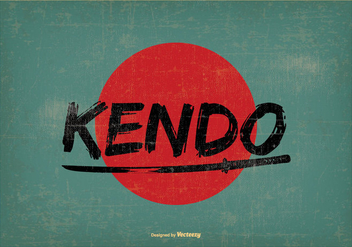 Retro Style Kendo Illustration - vector gratuit #408899