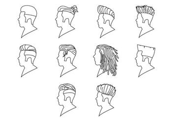 Free Hairstyle Icon Vector - vector #408929 gratis