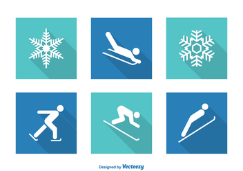 Free Vector Wintersport Icons - Free vector #408989