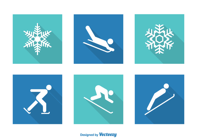 Free Vector Wintersport Icons - vector gratuit #408989