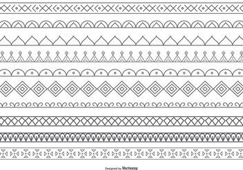 Cute Decorative Vector Border Collection - Free vector #408999