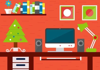 Free Christmas Vector Desk - Kostenloses vector #409049