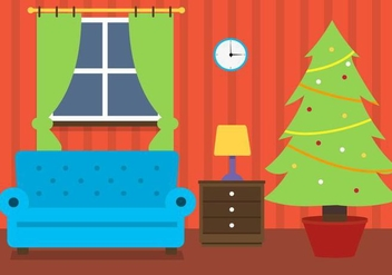Free Christmas Vector Room - Free vector #409069