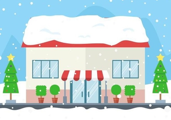 Free Vector Winter Store - Free vector #409089