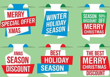 Free Vector Christmas Labels - Free vector #409109