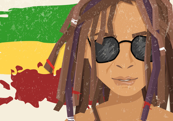 Dreads Regae Wearing Sunglasses - бесплатный vector #409169