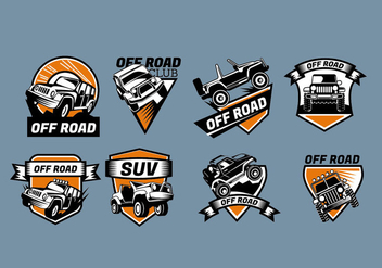 Logo Vector Sign Jeep Badges - vector gratuit #409219
