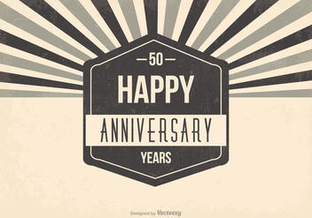 50th Anniversary Illustration - vector #409229 gratis