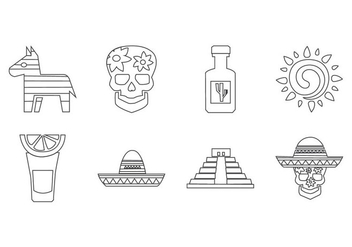 Free Mexico Icon Vector - vector #409289 gratis