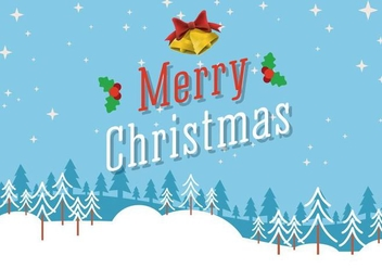 Free Vector Merry Christmas Background - бесплатный vector #409449
